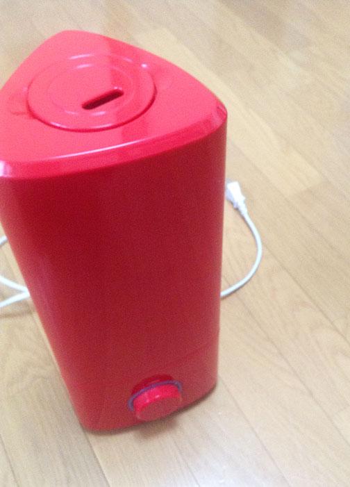 真っ赤な加湿器