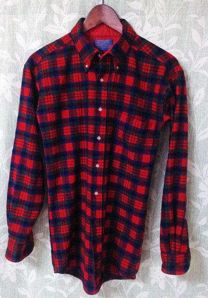 ボックスチェックシャツ