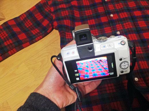 ペンのディスプレイを撮影