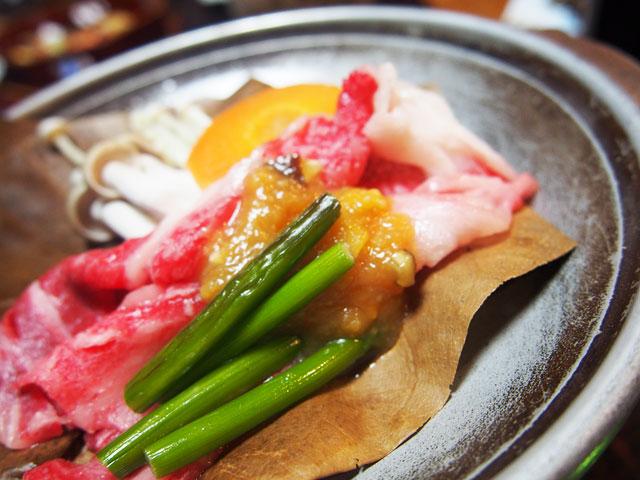 飛騨牛の朴葉味噌焼