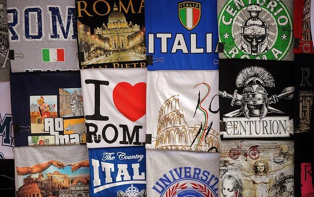 ローマ土産のTシャツ