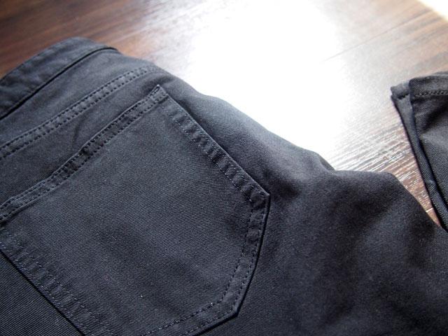 スキニーフィットのポケット