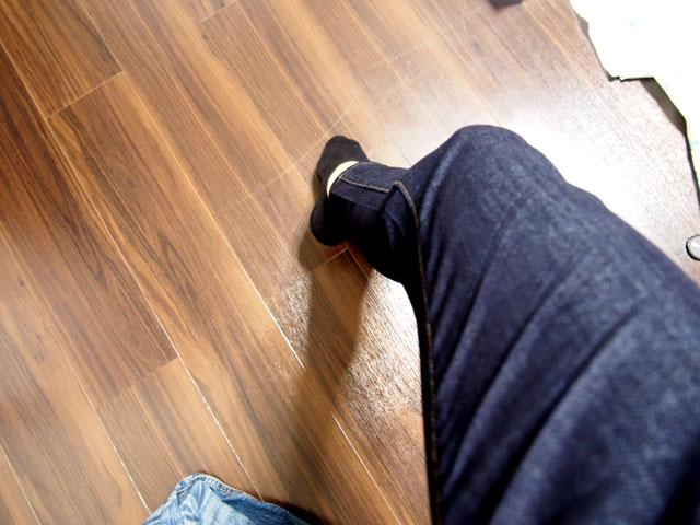 ミラクルエアージーンズを履いた