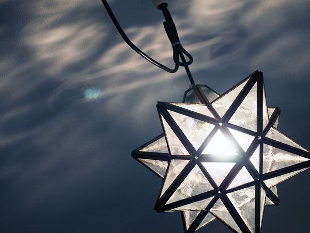 星型ライトのアップ