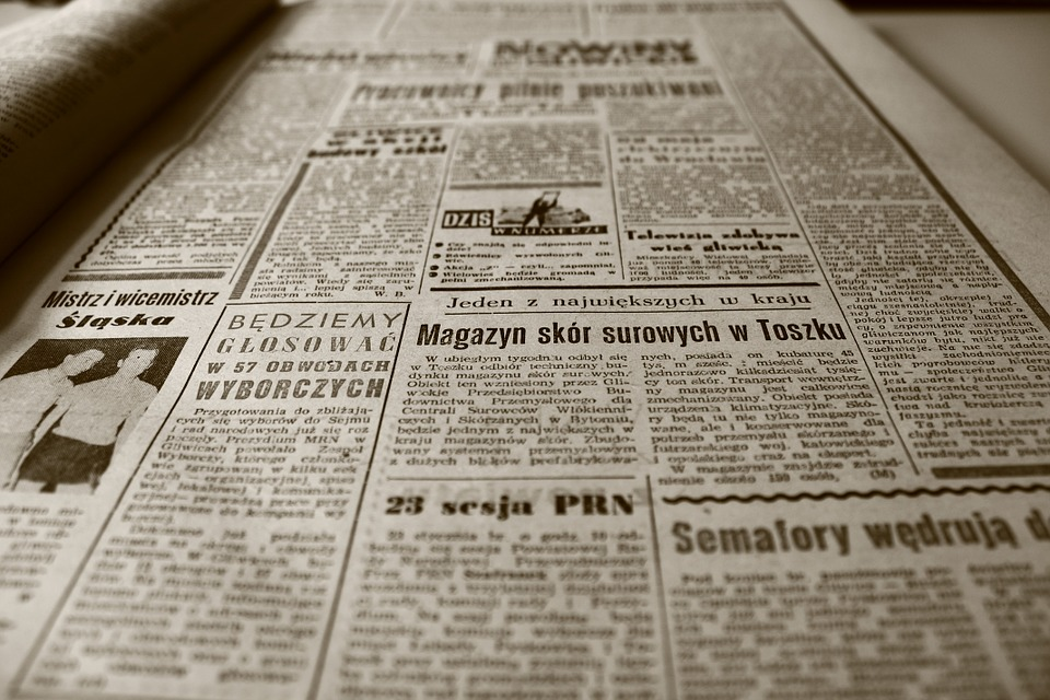 古い英字新聞